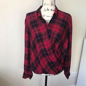 Plaid red Gap blouse